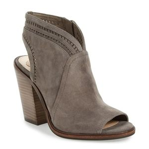 VINCE CAMUTO - Koral Perforated Open Toe Bootie